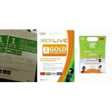 Xbox Live 12 months Gold Membership (US, Euro, Asia)