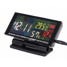 LCD Display Car clock with Hygrometer Digital Automotive Thermometer