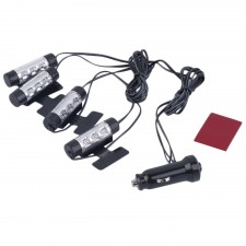 Essential 3LED Car Charge 12V Glow Interior Decorative foot lamp