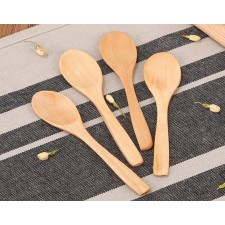 long handled wooden spoon Portable children 's home Wooden spoon