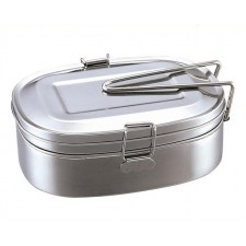 Double stainless steel adult student rectangular thick lunch box