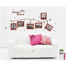 Solid wood frame wall stickers7 inch photo wall creative combinatioN