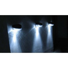 Outdoor Solar 2 LED Wall Stairway Mount Garden Cool BUY 5 FREE 1