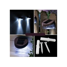 Outdoor Solar Powered 2 LED Wall Stairway Mount Garden Cool Fence Ligh
