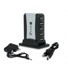 high speed 7 port usb hubwith external power stand for computer