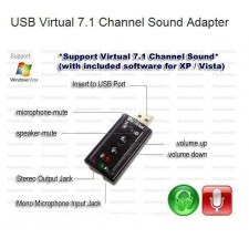 USB to 3D AUDIO SOUND CARD ADAPTER VIRTUAL 7.1 ch