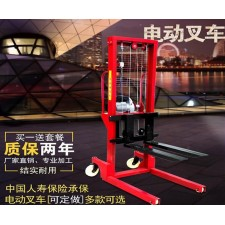 Electric forklift automatic pallet loading and unloading crane