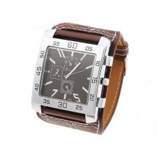 men's quartz wrist watch with water resistant round shaped dial