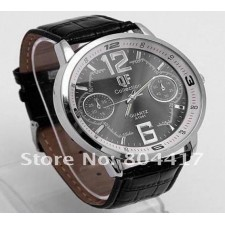 Deluxe Leather Gentle Man Mens Analog Casual Fashion Quartz