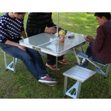 Section aluminum folding tables and chairs for outdoor advertising