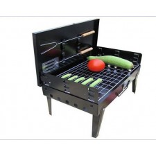 Outdoor Folding BBQ picnic suitcase buffet barbecue grill thicker box