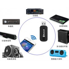 USB bluetooth music receiver Dongle Wireless 3.5mm AUX