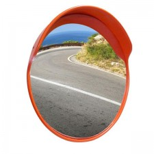 Outdoor Convex Mirror with Cap (Pole Mounted)