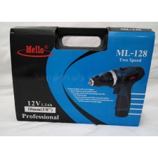 MELLO ML-128 Two Speed Compact Cordless Drill