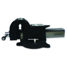 """STANLEY 81-602 5"""" CAST STEEL BENCH VISE with Swivel Base"""