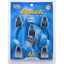 BUICK 40mm K/A STAINLESS STEEL Padlock (5 pcs)