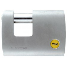 YALE Y124/70/115/1 70mm Outdoor Brass/Satin Straight Shackle Padlock