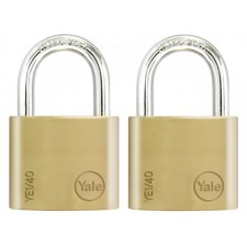 YALE YE1/40/122/2 K-A-L Essential Brass Padlock Pack of 2