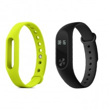 (Bundle) Xiaomi Mi band  2 + Green Colour Strap - Wistband Bracelet Smart Heart
