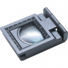 FOLDING MAGNIFIER WITH SCALE