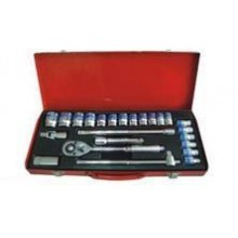 "1/2""DR 24PCE SOCKET SET (8-32MM) PTM-4025"
