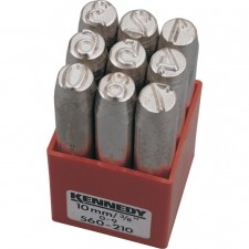 KEN5602100K 10.0mm (SET OF 9) FIGURE PUNCHES -Stock Clearance