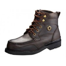 BLACK HAMMER BH4994 Men Safety Shoes Mid Cut Mocassins With Lace Up