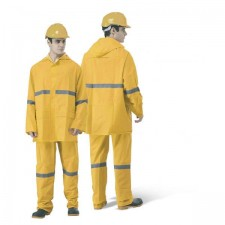 HEAVY DUTY VISIBILITY RAINSUIT WITH HIGH REFLECTIVE STRIP
