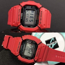 GShock DW5600 & Baby G Maroon Couple Watch