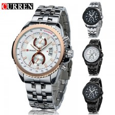 CURREN 8082 Men Sports Stainless Steel Analog Watch - 4 Options