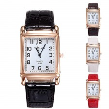 WoMaGe Women's Stainless Steel Fashion Leather Band Women's Watch