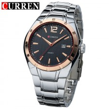 CURREN 8103 Men's Casual Date Display Stainless Steel Watch- 2 Options