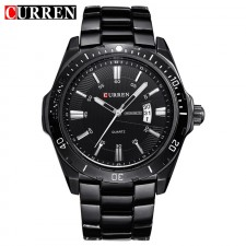 CURREN 8110 Men's Date Function Stainless Steel Watch- 2 Options