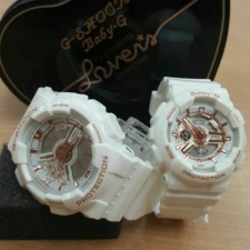 G shock and baby g white gold and 1:1