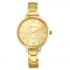 Geneva Small Stainless Steel Women's Fashion Watch (Silver/Gold/Rose)
