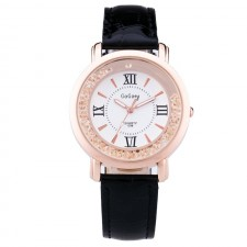GoGoey 098 Women's Stainless Steel Fashion Quartz Leather Watch