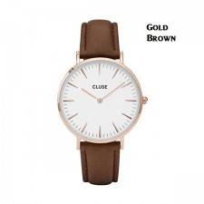 4 Color Cluse Watch Leather Strap Mens Womans Casual Watches