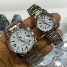 Polo couple watch free box warranty analog with date