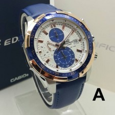 CASIO EDIFICE EFR5390 LEATHER MEN WATCHES