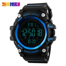 SKMEI Men's Military Sport Large Dial Full Digital Time Rubber Strap Watch