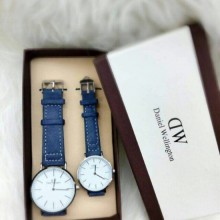 DW Couple Watch Set Blue Leather Daniel watches Limited Stock