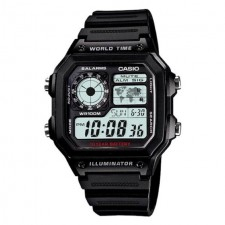 Brand: Casio AE1200WHD-1A (Casio Royals) World Time Black Watch
