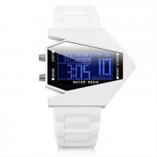 Stealth Plane Aircraft Bomber Sports LED Digital Watch Silicone Watches White