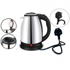 (Malaysia Plug) Zeppy Electric kettle 2L stainless steel double anti hot pot