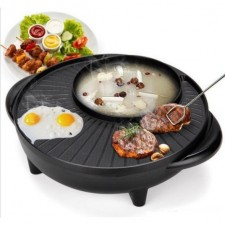 Steamboat with BBQ Electric Grill Pan - 2 in 1 (36cm)
