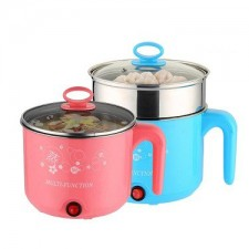2 Layer Electric Travelling Steamboat Cooker 1.6L Multi Function