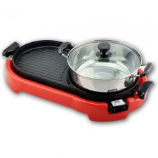 2 IN 1 BBQ Korean Electronic Pan Grill & Steamboat & Teppanyaki