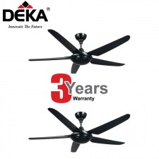 TWIN PACK-DEKA Kronos 5-Blade Ceiling Fan F5P with Remote Control
