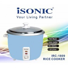 Isonic 1.8Liter Rice Cooker 700w Auto Keep Warm Function IRC 1809