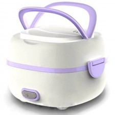 PURPLE Multifunction Portable Electric Mini Rice Cooker Lunch Box Steam Heating